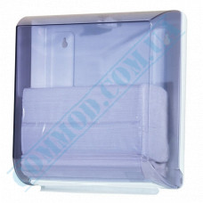 Dispenser for sheet paper towels Z, V-stacking plastic article 709 (Italy)