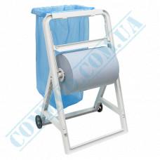 Holder for rolled industrial paper towels metal floor on wheels Mar Plast (Italy) article 566