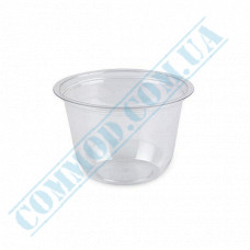 Plastic transparent dessert cups Cone 120ml Ǿ=76mm h=52mm without lid 100 pieces