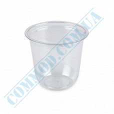 Plastic transparent dessert cups Cone 180ml Ǿ=76mm h=82mm without lid 100 pieces