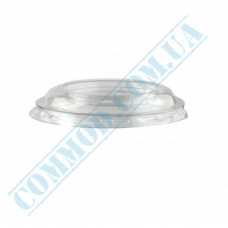 "Transparent flat plastic lids Ǿ=95mm without opening for glasses ""Cone"" 50 pieces"