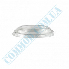 "Transparent flat plastic lids Ǿ=76mm without opening for glasses ""Cone"" 100 pieces"