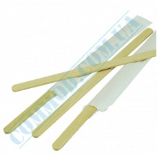 Wooden stirrers for coffee and tea 140*6*1.8mm 250 pieces individually packed