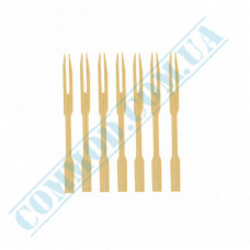 Bamboo French fries forks | 85mm | 100 pieces per pack