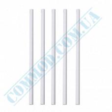 Plastic milkshake straws Ǿ=6,8mm L=21cm without corrugation white 500 pieces per pack
