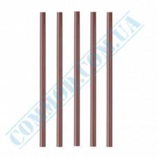 Plastic milkshake straws Ǿ=6,8mm L=21cm without corrugation brown 500 pieces per pack