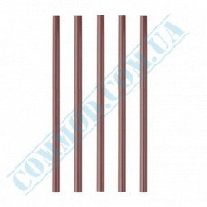Cocktail straws   plastic   not flexible   Ǿ=7mm L=210mm   Chocolate   500 pieces per pack