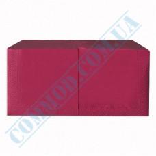 Paper napkins 33*33cm single-layer burgundy 200 pieces per pack