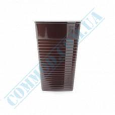 Plastic PP cups   180ml   brown   Huhtamaki   100 pieces per pack
