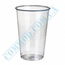 Plastic PP cups   500ml   transparent   50 pieces per pack
