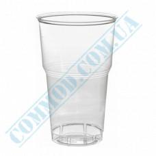 Plastic PP cups   500ml   transparent   dense   50 pieces per pack
