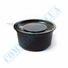 Sauce bowls 80ml round PS only for cold black with a separate lid 2000 pieces