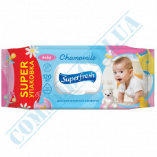 Antibacterial wet wipes with valve for children SuperFresh 120 pieces