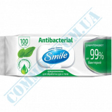 Antibacterial wet wipes with valve Smile 100 pieces