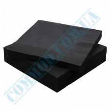 Paper napkins 33*33cm 2-ply black 100 pieces per pack