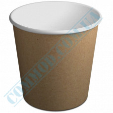 Paper containers | 5000ml | Ǿ=200mm h=203mm | Craft | without lid | for hot and cold food | 50 pieces per pack