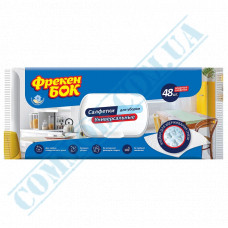 Wet wipes for cleaning 19*20cm universal with valve 48 pieces per pack Freken Bock
