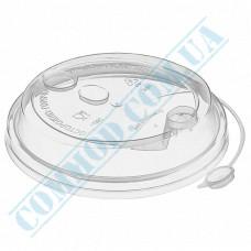 Plastic PP lids Ǿ=90mm for paper cups 350-500ml transparent with closure 100 pieces per pack