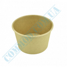 Paper containers | 250ml | Ǿ=95mm h=65mm | Craft | without lid | for hot and cold food| 25 pieces per pack