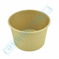 Paper containers | 340ml | Ǿ=95mm h=70mm | Craft | without lid | for hot and cold food| 25 pieces per pack