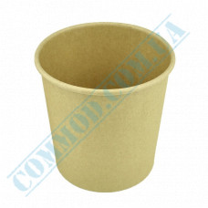 Paper containers | 450ml | Ǿ=95mm h=95mm | Craft | without lid | for hot and cold meals| 25 pieces per pack