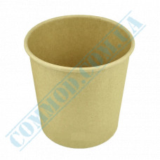 Paper containers | 480ml | Ǿ=95mm h=105mm | Craft | without lid | for hot and cold meals| 25 pieces per pack