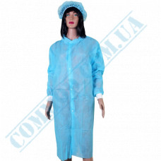 Blue spunbond dressing gown with buttons size - XL 5 pieces per pack (China)