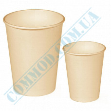 Sugarcane (bagasse) single wall paper cups 110ml beige 50 pieces per pack