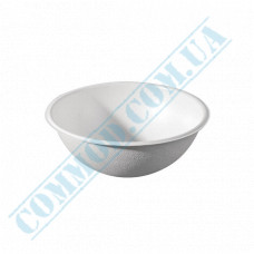Paper bowls 200ml from sugar cane (bagasse) Ǿ=114mm white 100 pieces per pack