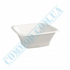 Paper bowls 150ml from sugar cane (bagasse) 65*65*45mm white 100 pieces per pack