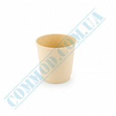 Double wall paper cups made of bamboo fiber 110ml beige 30 pieces per pack