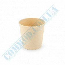 Double wall paper cups made of bamboo fiber 180ml beige 70 pieces per pack