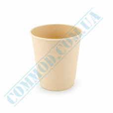 Double wall paper cups made of bamboo fiber 250ml beige 30 pieces per pack
