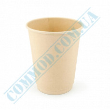Double wall paper cups made of bamboo fiber 350ml beige 30 pieces per pack