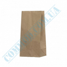Kraft paper bags with rectangular bottom | 120*85*240mm | 50g/m2 | 1000 pieces per pack
