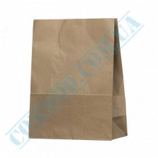 Kraft paper bags with rectangular bottom | 260*140*335mm | 50g/m2 | 350 pieces per package