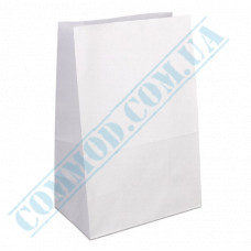 White paper bags with rectangular bottom | 260*150*350mm | 70g/m2 | 100 pieces per pack