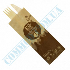 Set | Fork Knife wooden | 160mm | 700 pieces in a box