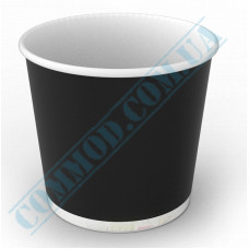 Paper containers | 700ml | Ǿ=114mm h=106mm | black | without lid | for hot and cold food | 100 pieces per pack