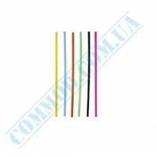 Straws for drinks   plastic   not flexible   Ǿ=3mm L=125mm   colored   500 pieces per pack