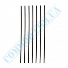 Straws for drinks   plastic   not flexible   Ǿ=3mm L=210mm   black   500 pieces per pack