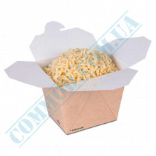 Paper containers | 500ml | 67*88*94mm | Craft | Huhtamaki | for hot and cold food | 50 pieces per pack