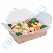 Paper containers | 1700ml | 140*195*63mm | Craft | Huhtamaki | for hot and cold food | 50 pieces per pack