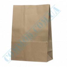 Kraft paper bags with rectangular bottom | 260*150*380mm | 80g/m2 | art. 4834 | 100 pieces per pack